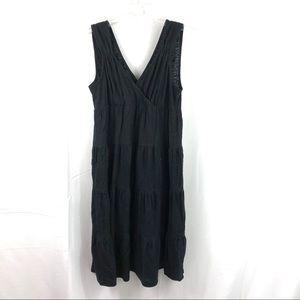 Talbots Petite V-Neck Surplice Black Dress L